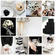 Стиль свадьбы - кружево, горошек и черно-белая